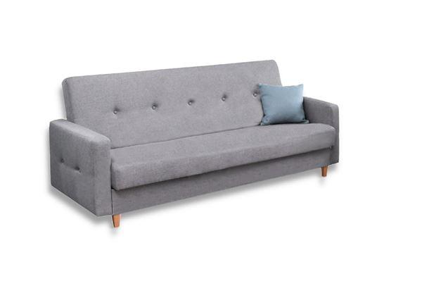 Canapea extensibilă 3 locuri gri Tango