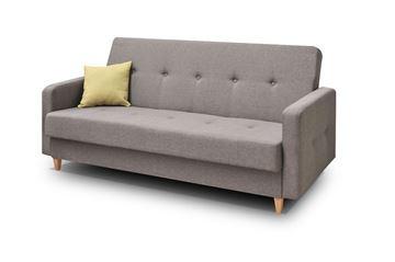 Canapea extensibilă 3 locuri maro deschis Tango