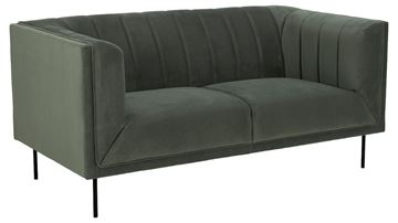 Canapea fixă 2 locuri XL verde olive Pasadena