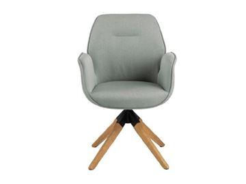 Scaun tapițat rotativ gri deschis Aura