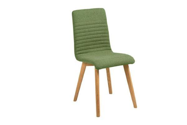 Scaun tapițat verde Arosa