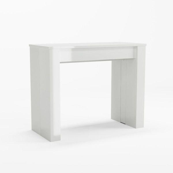 Consolă/masă dining extensibilă, alb, Atlantis