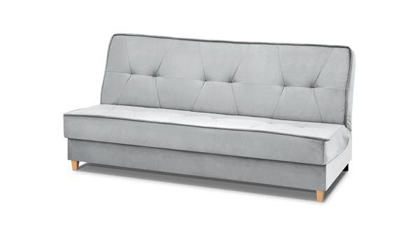 Canapea extensibilă 3 locuri gri deschis Riva